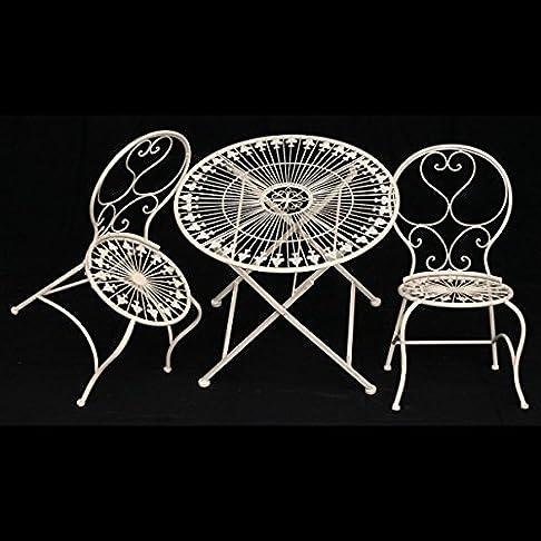 Tavolo per bambini sedie mobili da giardino set 1tisch & 2Sedie Bianco Anticato terrazza balcone