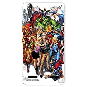 BetaDesign Super hero Printed Back Cover, Designer Case for Lenovo A6000 (Multicolor)