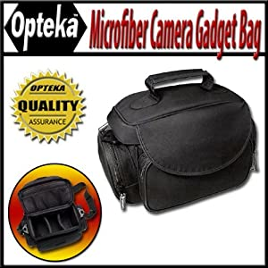 Opteka Microfiber Deluxe Photo/Video Camera Gadget Bag for Canon, Nikon, Sony, Olympus & Panasonic Digital SLR Cameras & Camcorders