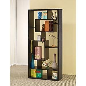 coaster room divider shelf in black oak finish. Black Bedroom Furniture Sets. Home Design Ideas