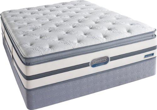 Beautyrest Recharge Lowman Plush Pillow Top Mattress Set, Queen front-1032211