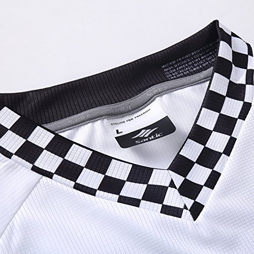 Santic Cycling Men's Downhill RideT-Shirt Long Jersey Long Sleeve White santic men cycling jersey anti sweat road bike mtb cycling shirt pro downhill long sleeve cycling clothing bicycle sportwear