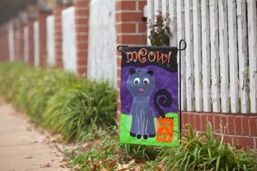 Trick or Treat Halloween Cat Garden Flag