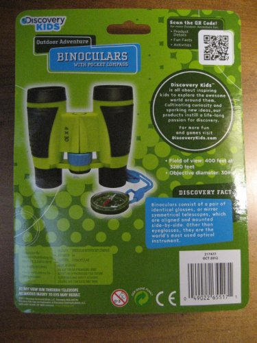 Discovery Kids Binoculars with Pocket Compass (4 X 30) - 1