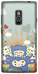 The Racoon Lean printed designer hard back mobile phone case cover for OnePlus 2. (Monster Lo)