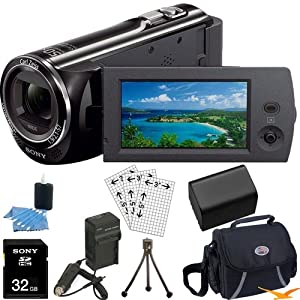 Sony HDR-CX290/B HDRCX290 HDR-CX290/B CX290 BHigh Definition Handycam Camcorder with 2.7-Inch LCD (Black)Ultimate Bundle with 32GB SD Card, High Capacity Spare Battery, Rapid AC/DC Charger, Deluxe Carrying Case, Table Tripod, LCD Screen Protectors + More