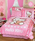 515oKrFS72L. SL160  Hello Kitty Love Comforter Bedding Set Full 8 Pcs