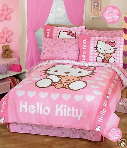 Hello Kitty Love Comforter Bedding Set Full 8 Pcs