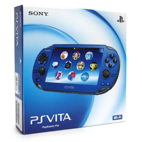 Sapphire Blue Sony PlayStation PS Vita Portable Handheld Game System Console [REGION FREE Wi-Fi MODEL]