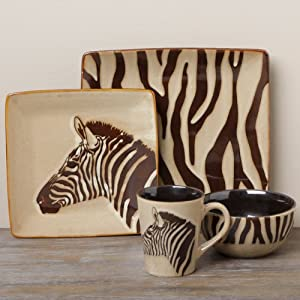 Tabletop Unlimited 'Zebra' 16-piece Dinnerware Set