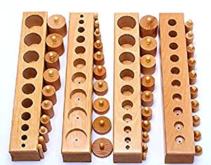 Kid Advance Co. Montessori Cylinder Blocks