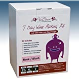 Home Brew & Wine Making - VinClasse® Rose Blush Wine 7 Day (Sugar Required) Ingredient Kit For 30 Bottles
