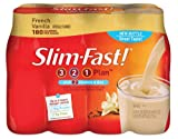 Slim-Fast! 3-2-1 Ready To Drink, French Vanilla, 10 Ounce (Pack of 8)