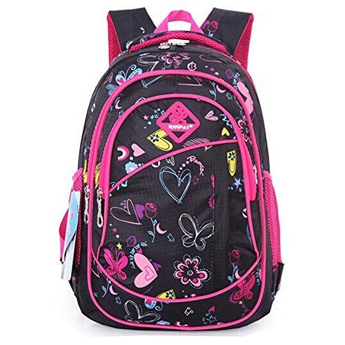 8cc6d19d78b7 Eshops Cute Colorful Backpacks for Girls School Bags Bookbag Back Pack Black