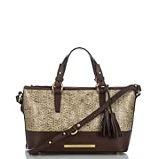 Mini Asher Tote<br>Brown Basket Weave