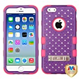 MYBAT Natural Purple/Electric Pink TUFF Hybrid Phone Protector Cover (with Diamonds)(with Package) for APPLE iPhone 6 (4.7-inch)