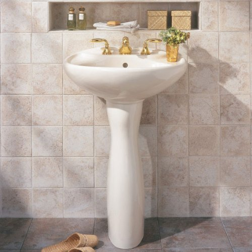American standard 733900 savona pedestal sink leg for Pedestal sink with metal legs