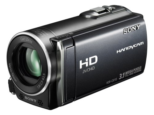 SONY HDR-CX115 High Definition Camcorder - black