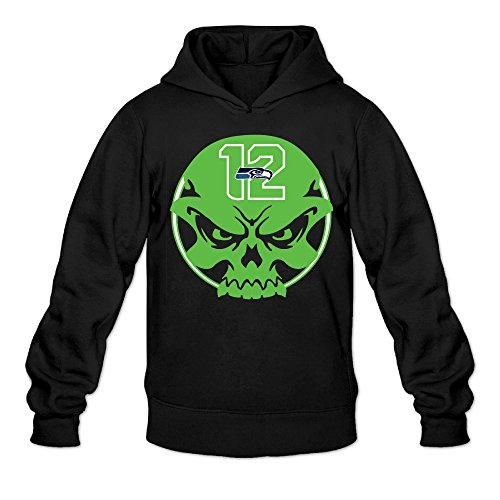 DVPHQ Men's Seattle #12 Seahawks Hoodie Size XL Black (Nfl Head Coach Ps3 compare prices)