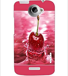 PrintDhaba Cherry D-1379 Back Case Cover for HTC ONE X (Multi-Coloured)