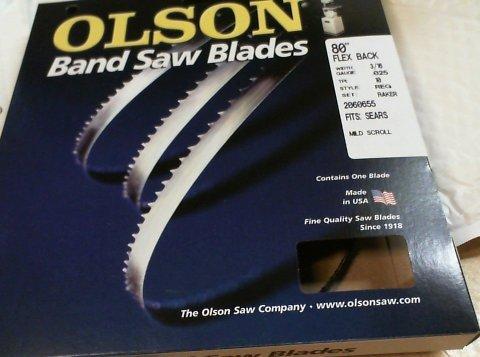 Band Saw Blades Olson Saw Fb10080db 3 16 By 0 025 By 80