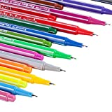Fineliner Color Pen Set, Tanmit 0.4 mm Felt tip Colored Pens, No Duplicates, Vivide Ink, 18 Pack Coloring Markers Pens, Perfect for School, Watercolor, Sketching, Artists, Small Pictures Especially