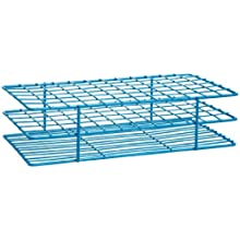 Bel-Art Scienceware 187570001 Steel Poxygrid Wire Test Tube Rack for 15-16mm Tube, 72 Place, Blue