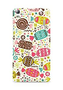 Amez designer printed 3d premium high quality back case cover for Lenovo A7000 (Chocolate Pattern)