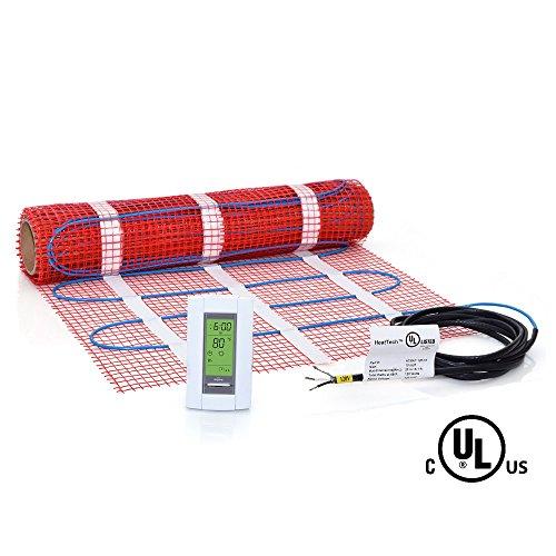 Electric Radiant Heat : Sqft mat kit v electric radiant floor heat heating