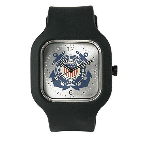 Black Fashion Sport Watch United States Us Coast Guard Seal