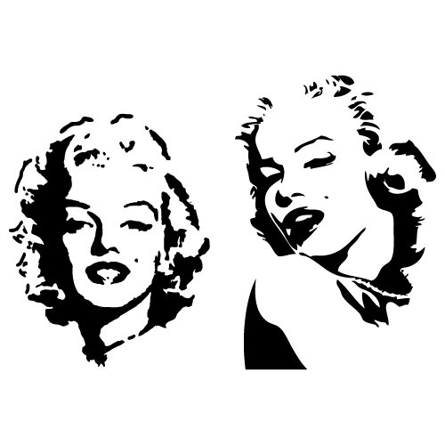 2-Stickers-Autocollant-Kit-tuning-Marilyn-MONROE-custom-decals-voiture-moto