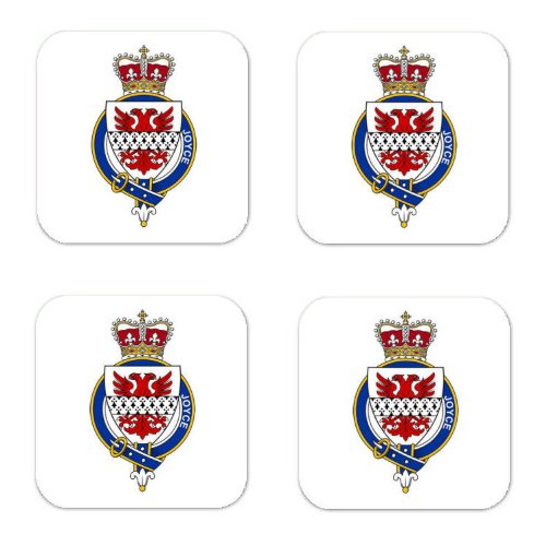 Joyce Ireland Family Crest Square Coasters Coat of Arms Coasters - Set of 4