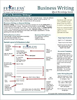 Business Writing Quick Reference Guide Card Fearless