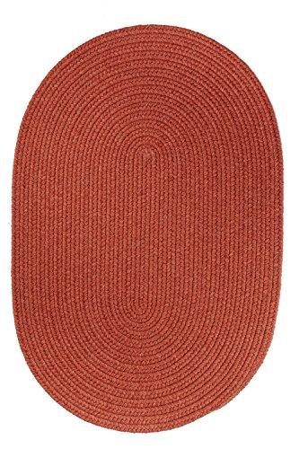 Rhody Rug Solid Round Wool Rug, 6-Feet, Terra Cotta