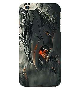 Fuson 3D Printed Demon Designer Back Case Cover for Apple iPhone 6 Plus - D1050