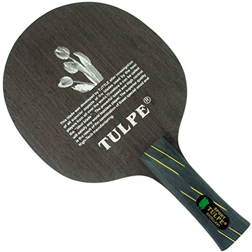 Kokutaku Tulpe T-704 Carbon Attack+Loop Table Tennis Blade for Ping Pong Racket, Shakehand(Long handle)-FL