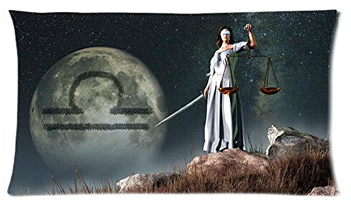 One Side Custom Rectangle Libra Of Zodiac Pillow Cases 20X36 Inch front-972192