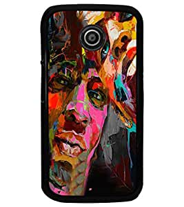 PrintDhaba Graffiti D-4960 Back Case Cover for MOTOROLA MOTO E (Multi-Coloured)