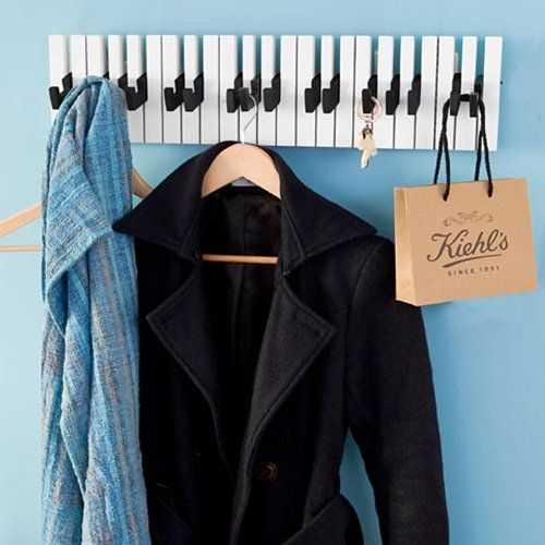 Barre de support 16 crochets crochet d coratif piano for Porte manteau mural 1 crochet