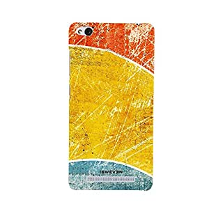 iSweven Printed _redmi3S_3116 Rusted Blue Yellow Red Design Multicolored Matte finish Back case cover for Xiomi Redmi 3S