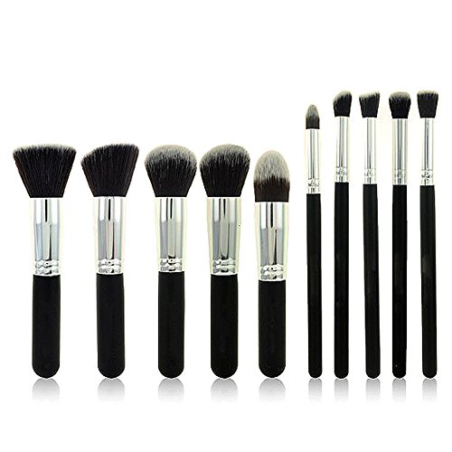 Ucanbe Premium Professional Synthetic Kabuki Makeup Brush Set Cosmetic Foundation Eyeshadow Blush Concealer Powder Brush Makeup Brush(silver) (Wet Eyeshadow Make Up compare prices)
