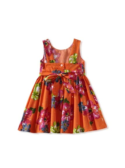Di Vani Girl's Floral Tie Back Dress