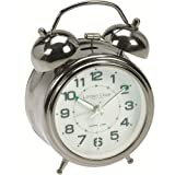 Traditional Alarm Clock - Silver-13cm 32376
