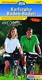 ADFC-Regionalkarte Karlsruhe Baden-Baden mit Tagestouren-Vorschlägen, 1:75.000: Vom Elsass bis Pforzheim