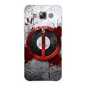 Enticing Bleed Dead Multicolor Back Case Cover for Galaxy E7