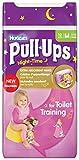 Huggies Pull Ups Nightime Potty Training Pants for Girls Medium 11 18 kg 12 x 3 Packs 36 Pants