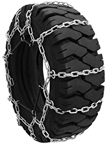 Security Chain Company QG0107 Quik Grip Forklift Tire Traction Chain - Set of 2