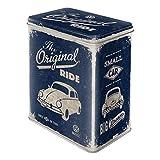 VW Beetle Metal Tin Storage Box - The Original Ride