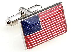 MRCUFF American Flag USA America Cufflinks with a Presentation Gift Box