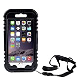 Okeyn Waterproof Case for Apple iPhone 6 5S 5C 5, - Universal Waterproof Pouch with Touch Responsive Front Transparent Innovation Silicone Membrane Screen- Swimming Case Bag with Neck Strap also Fits Other Smartphones or Digi